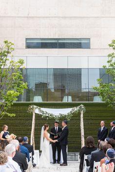 Brett And Stephanie Midcentury Modernart Museumwedding