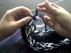 Bufanda 4 tiras // tejida con los dedos