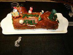 Bûche de Noël sans beurre Just Giving, Healthy Recipes, My Favorite Things, Breakfast, Cake, Voici, Christmas, Chocolate Ganache, Butter