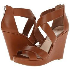 Jessica Simpson Jadyn Women's Wedge Shoes, Brown ($32) ❤ liked on Polyvore featuring shoes, sandals, brown, ankle strap sandals, brown sandals, wedges shoes, jessica simpson shoes and brown wedge shoes