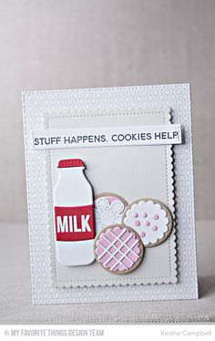 Cookie Crumbs Stamp Set, Line Up Dots Background, You're the Milk to My Cookie Die-namics, Stitched Flowers Die-namics, Stitched Mini Scallop Rectangle STAX Die-namics - Keisha Campbell #mftstamps