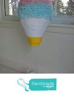 Hot Air Balloon Gender Reveal Handmade Party Pinata from Pinata Paradise http://www.amazon.com/dp/B015WI1O3Q/ref=hnd_sw_r_pi_dp_JDwdxb1CK64GT #handmadeatamazon