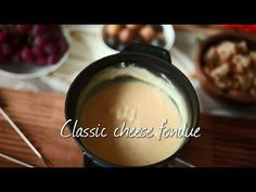 Make this classic cheese fondue for a retro dinner party or romantic evening in