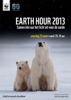 I'm turning off my lights this Earth Hour, March 2013 at pm! Wwf Earth Hour, Save The Planet, Global Warming, My Life, Animals, March, Polar Bears, Lights, Rotterdam