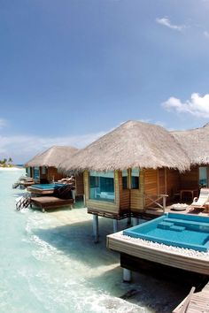 Opt for a Lagoon Bungalow and you'll have direct access to the shimmering lagoon. PER AQUUM Huvafen Fushi has consistently remained in the top strata of Indian Ocean honeypots. International A-listers from Kate Moss to George Clooney have visited the island, in the North Malé Atoll, for its reinterpretation of Maldivian architecture — think sweeping thatch roofs, open-plan lounges with glowy tables — and its effortless, laid-back cool. #Jetsetter