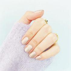 Get a glittery manicure.