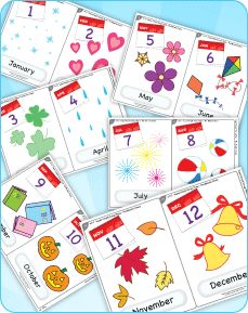 """Flashcards for the """"The Months Chant"""" from Super Simple Learning."""