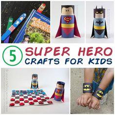 5 Super Hero Crafts for Kids