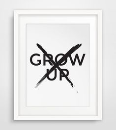 Dont Grow Up Grow Up Childrens Art Boy by MelindaWoodDesigns #nurserydecor