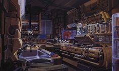 Deckers Kitchen - Syd Mead, Blade Runner 1982