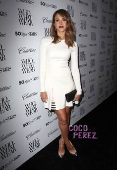Jessica Alba is her stylish self at Who What Wear's 50 Stylish Women of 2013 event!