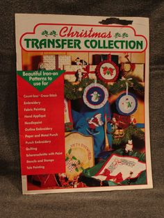Craftways Christmas Transfer Collection Beautiful Iron On Patterns Book complete - UNCUT, UNUSED! For embroidery, applique, stencils, & more by TreasuresByChance on Etsy