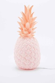 Goodnight Light - Lampe ananas avec prise britannique rose - Urban Outfitters