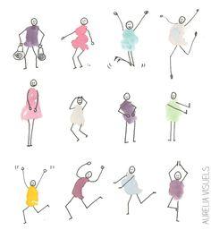 little males - watercolor pen Extra illustration obtain Fingerprint Crafts, Stick Figure Drawing, Drawing Lessons For Kids, Thumb Prints, Doodles, Doodle Inspiration, Handprint Art, Sketch Notes, Pen And Watercolor