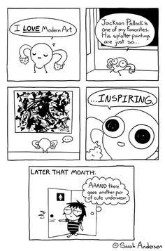 Sarah's Scribbles :: Modern Art | Tapastic Comics - image 1