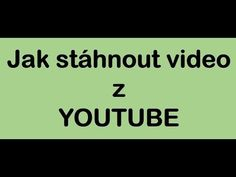 Jak stáhnout video z youtube - YouTube Twitter Video, Facebook Video, Youtube Hacks, Youtube Youtube, Social Media Video, Insta Videos, Marketing Software, Download Video, Internet