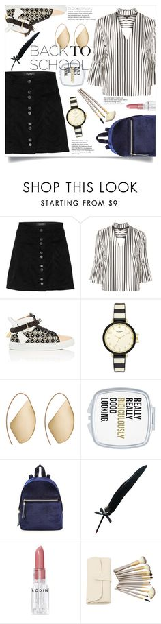 """Go Back-to-School Shopping!"" by katerina1500 ❤ liked on Polyvore featuring Topshop, BUSCEMI, Kate Spade, Ana Khouri, Fountain and Rodin"