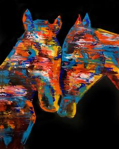 IMG_4832 2 Canvas Art Prints, Painting Prints, Wall Art Prints, Paintings, Two Horses, Wild Horses, Living Room Canvas Art, Horse Wall Art, Large Artwork
