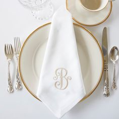 Detailed font design is beautiful on wedding and event napkins.