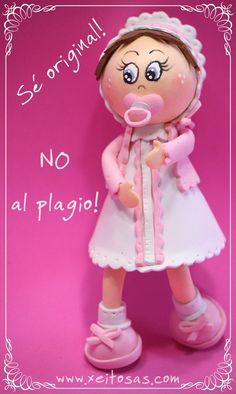 Sé original! No al plagio!   Mis muñecas están registradas y son piezas únicas encargadas por mis clientes con todos sus detalles. Puedes inspirarte pero por favor respeta mi trabajo   www.xeitosas.com