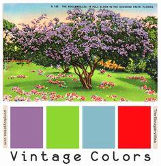 Vintage Color Palettes: the bouganvillea