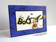 Scary boo Halloween Card