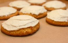 Low carb Pumpkin Cookies with Cinnamon Cream Cheese Frosting