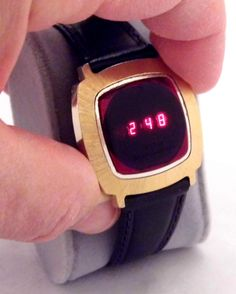 Vintage Texas Instruments Model 403 Men's Electronic Digital Wrist Watch, Red LED Display, Replacement Band, Made In USA, Circa Digital Wrist Watch, Led Watch, Red Led, Vintage Watches, 1970s, Watches For Men, Retro Vintage, Instruments, Nerd Chic