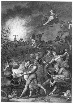 Walpurgis Night: A festival celebrated by lighting bonfires that was associated with gatherings of witches