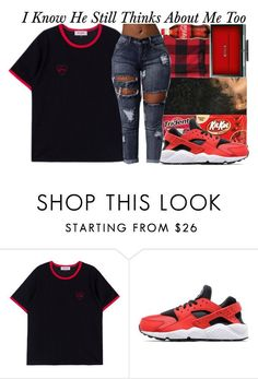 """Still Think~~"" by be-you-tiful-flower ❤ liked on Polyvore featuring NIKE"