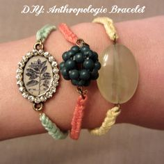 This vintage, Anthropologie knockoff bracelet is the perfect craft for teenagers. These are stunning yet affordable.