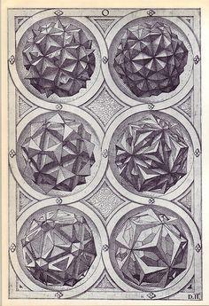 Aqua (c) - Perspectiva Corporum Regularium - Wenzel Jamnitzer 1568