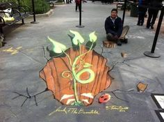 street art is as revolutionary an expression of design and art as graffiti. street art paintings are all about impact, and that's the success mantra for several… 3d Street Art, Amazing Street Art, 3d Painting, Art Paintings, Sidewalk Art, Graffiti, Artwork, Success Mantra, Inspiration