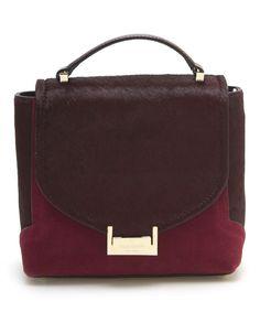 Loving this Kate Spade Red Plum & Bordeaux Keran Miro Street Leather Satchel on #zulily! #zulilyfinds