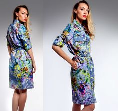 Boost of Colour>>Rainbow fell down on U< Rainbow Falls, Falling Down, Spring Summer 2015, High Neck Dress, Dresses For Work, Colour, How To Wear, Fashion, Turtleneck Dress