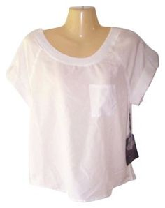 Ali & Kris Short Sleeve Roll Up Sleeve Top White