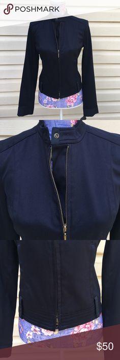 "Tommy Hilfiger Women's Jacket. Size 4 NWT Hilfiger Women's Navy Blue Zip from Street Chic Jacket. Size 4, Armpit to Armpit ~ 16"", Sleeve ~ 23"" , Length 19"" Tommy Hilfiger Jackets & Coats"