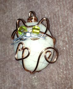 Wire wrapped cat pendant  May 11, 2014