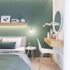 Bedroom Wall Colors, Bedroom Green, Room Ideas Bedroom, Home Decor Bedroom, Bedroom Mint, Decor Room, Bedroom Furniture, My New Room, Home Interior Design