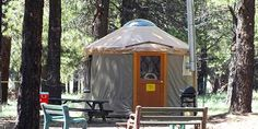 Front Country Small Yurts – Summer Flagstaff Nordic Center camping
