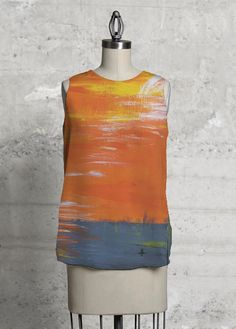 SUNSET on this  Modern tee Top