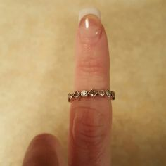 """Pandora Ring Authentic Pandora """"antiqued"""" ring. Only worn approximately 2 weeks. Paid exactly $65 for it. Pandora Jewelry Rings"""
