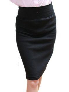 YogaColors Black Pencil Skirt