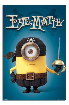 Minions Eye Matie Pirate Poster