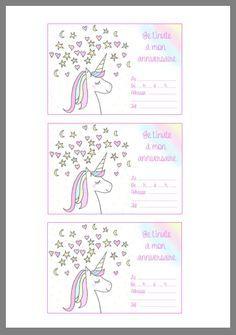 Birthday card by Unicorn Themed Birthday Party, Unicorn Birthday Invitations, Birthday Cards, Free Birthday, Unicorn Party, Wedding Invitations Diy Handmade, Free Printable Wedding Invitations, Handmade Wedding, Party Printables