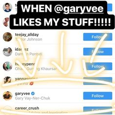 When @garyvee likes your stuff you KNOW you're on the right path!!!