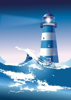Blue light house
