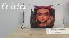 manque diseños Almohadones de diseño Serie Frida en pana medidas 50x35cms https://www.facebook.com/tienda.manque twitter:@manquedisenos