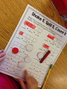 Make your own paper, make 2 sided counters by painting one side of a lines bean. Then get practicing those number combinations!