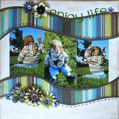 Enjoy Life scrapbook page layout by Hinkeltje